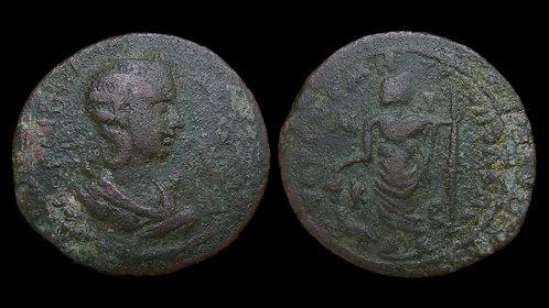 HERENNIA ETRUSCILLA . CILICIA, Tarsus . AE30 . Dionysos . *Scarce & Pedigreed*