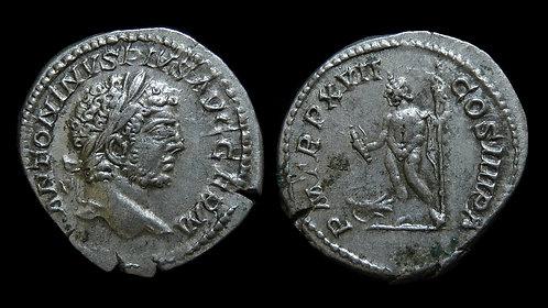 """CARACALLA . AD 198-217 . Denarius . """"Jupiter"""""""