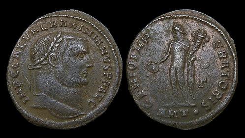 GALERIUS . AD 305-311 . AE Follis . Genius . *Pedigreed*