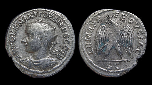 GORDIAN III . SYRIA, Seleucia and Pieria, Antioch . Billon Tetradrachm