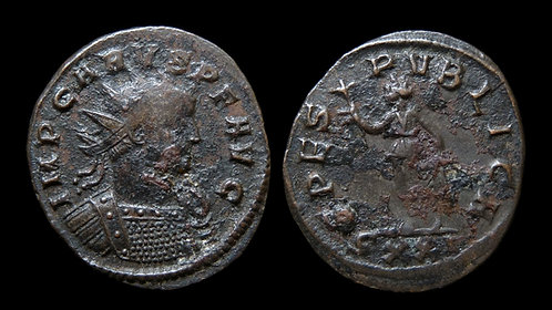 "CARUS . AD 282-283 . Antoninianus . ""Spes, Personification of Hope"""