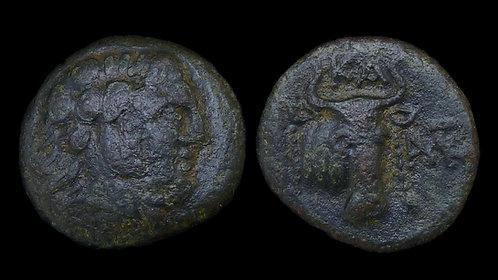 EUBOIA, Karystos . 3rd-2nd century BC . AE18 . Ex BCD/Copeland . **Rare**