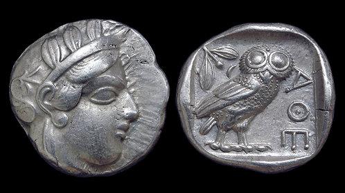 ATTICA, Athens . 454-404 BC . AR Tetradrachm . *A Superb Owl*