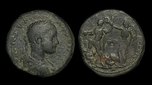 ELAGABALUS . MOESIA INFERIOR, Nicopolis ad Istrum . AE26 . Extremely Rare
