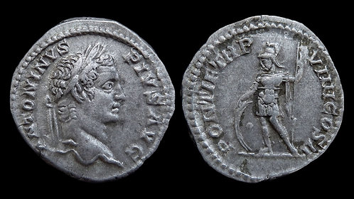 "CARACALLA . AD 198-217 . Denarius . ""Mars"" . Ex Clain-Stefanelli Collection"