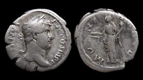 "HADRIAN . AD 117-138 . Denarius . ""MONETA AVG"""