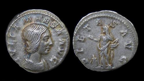 JULIA MAESA . AD 218-225 . AR Denarius . Grandmother of Elagabalus