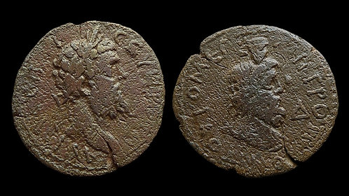 SEPTIMIUS SEVERUS . MOESIA INFERIOR, Tomis . AE27 . Bust of the god Serapis