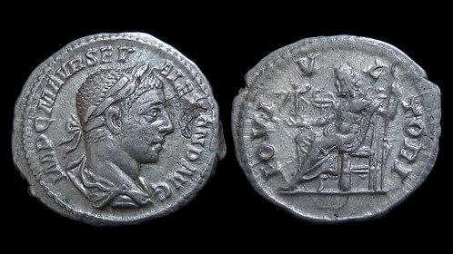 "SEVERUS ALEXANDER . AD 222-235 . AR Denarius . ""IOVI VLTORI"""