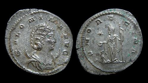 "SALONINA . AD 254-268 . Antoninianus . ""Juno Regina"""