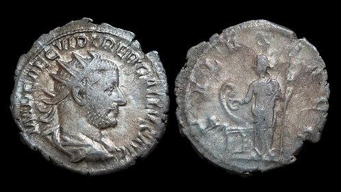 TREBONIANUS GALLUS . AD 251-253 . AR Antoninianus . Salus / Plague of Cyprian