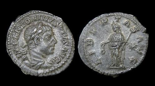 """ELAGABALUS . AD 218-222 . AR Denarius. """"LIBERTAS AVG"""""""