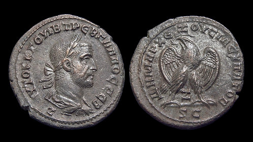 TREBONIANUS GALLUS . SYRIA, Seleucia and Pieria, Antioch . AR Tetradrachm