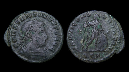 "CONSTANTINE I . AD 306-337 . AE3 . ""Mars, God of War"" . Scarcer type"