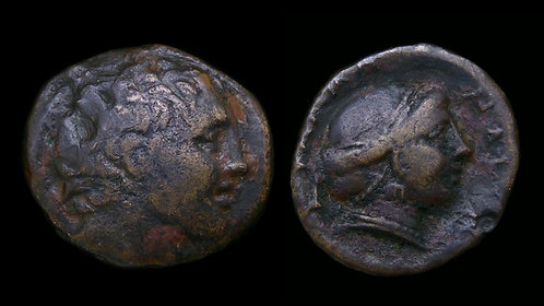 THESSALY, Phalanna . Circa 3rd - 2nd centuries BC . AE19 . Ares / Nymph