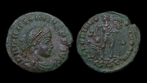 "GRATIAN . AD 367-383 . AE3 . ""GLORIA ROMANORVM"""