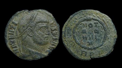 MAXENTIUS . AD 306-312 . 1/4 Follis . Scarce quinquennalia issue