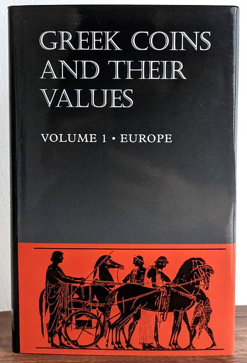 BOOK . GREEK COINS & THEIR VALUES VOL. 1 EUROPE (Hardback) - David Sear