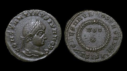 """CONSTANTINE II, as Caesar . AD 316-337 . AE3 . """"Vota in Wreath"""" . R5"""