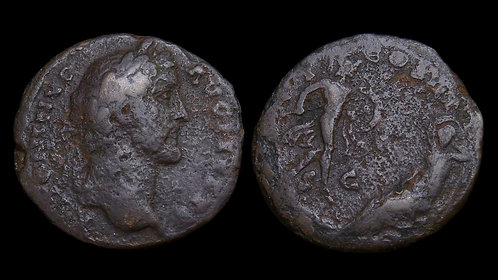 ANTONINUS PIUS . AD 138-161 . AE As . Mars & Rhea Silvia . *Rare & Interesting*
