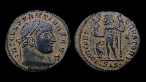"CONSTANTINE I . AD 306-337 . AE Follis . ""Jupiter"" . Beautiful desert patina"