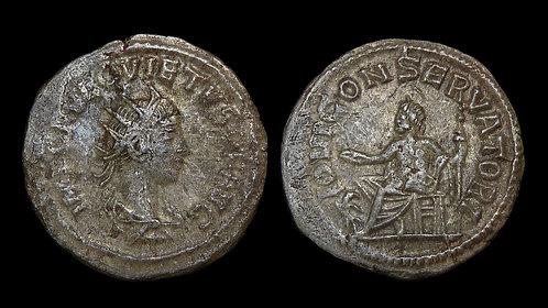 QUIETUS, Usurper . AD 260-261 . Billon Antoninianus . Scarce 3rd century usurper