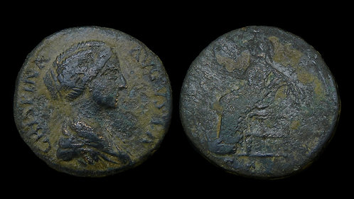 "CRISPINA . AD 178-191 . Sestertius . ""Salus"" . Wife of Commodus"