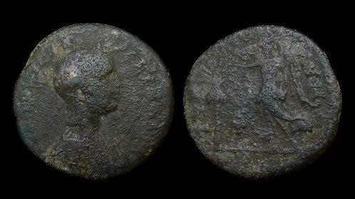 AQUILIA SEVERA . PHOENICIA, Tyre . AE27 . Vestal Virgin wife of Elagabalus