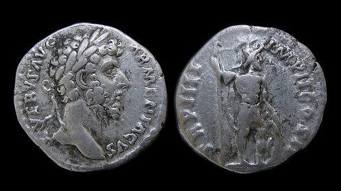 LUCIUS VERUS . AD 161-169 . AR Denarius . Mars . Ex A.K. Collection
