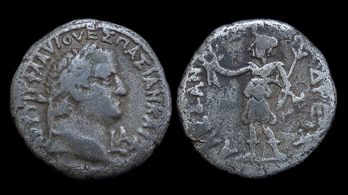 VESPASIAN . EGYPT, Alexandria . Billon Tetradrachm . Personification of the City