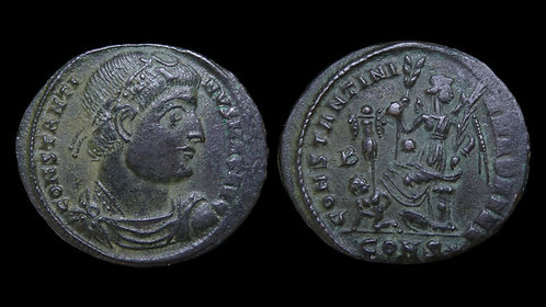 CONSTANTINE I . AD 306-337 . AE3 . Scarce and interesting Dafne type