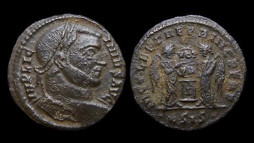 "LICINIUS I . AD 308-324 . Follis . ""Joyous Victory of the Eternal Prince"""