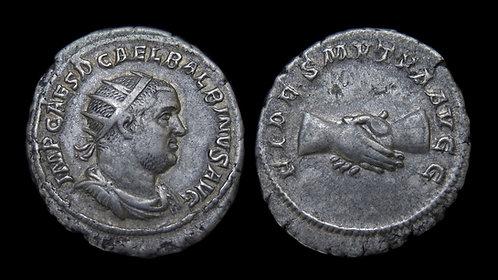 """BALBINUS . AD 238 . AR Antoninianus . """"FIDES"""" . Excellent specimen"""