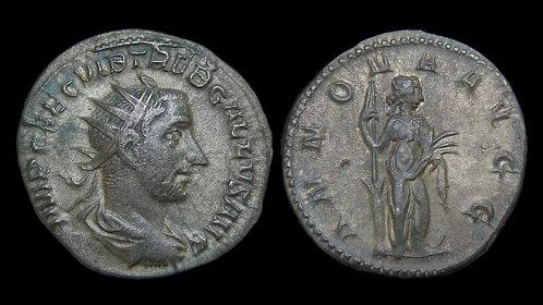TREBONIANUS GALLUS . AD 251-253 . AR Antoninianus . Annona. *Pedigreed*