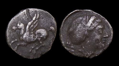 CORINTHIA, Corinth . 347-307 BC . AR Drachm . Pegasos & Aphrodite