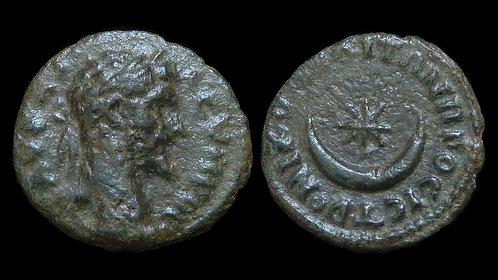 SEPTIMIUS SEVERUS . MOESIA INFERIOR, Nicopolis ad Istrum . AE16. Crescent & Star