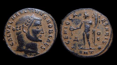 "MAXIMINUS II DAIA . AD 310-313 . Follis . ""Genius standing"" . Antioch"