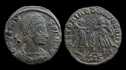 """CONSTANS . AD 337-350 . AE4 . """"Two Victories"""""""