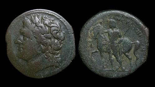 SICILY, Messana, the Mamertinoi . 211-208 BC . AE28 . Mercenary coinage