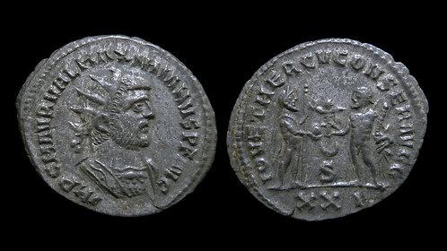 """MAXIMIANUS . AD 286-305 . Antoninianus . """"Jupiter & Hercules"""""""