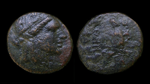IONIA, Smyrna . 105-95 BC . AE20 . The Legendary Poet Homer