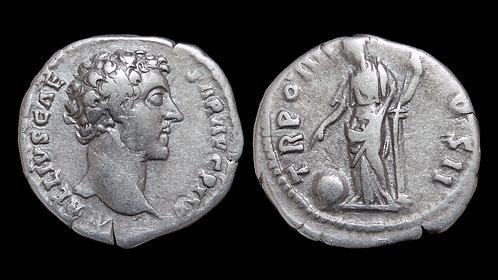 MARCUS AURELIUS, as Caesar . AD 138-161 . AR Denarius . Providentia