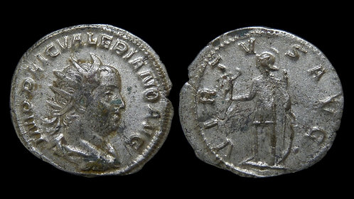 """VALERIAN . AD 253-260 . Antoninianus . """"VIRTVS AVG"""" . Milan"""