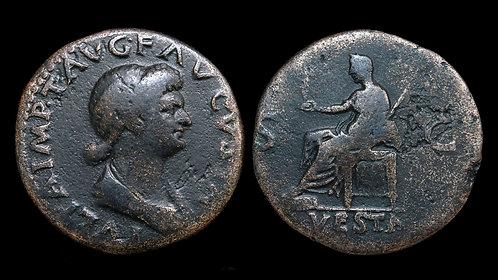 JULIA TITI . AD 79-91 . Dupondius. Titus's daughter / Domitian's mistress *Rare*