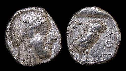 ATTICA, Athens . 454-404 BC . AR Tetradrachm . Athena / Owl