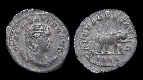 OTACILIA SEVERA . AD 244-249 . Antoninianus . Hippopotamus . 1000th Anniversary