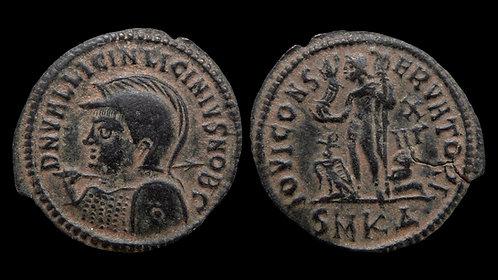 LICINIUS II, as Caesar . AD 317-324 . Follis . Beautiful desert patina