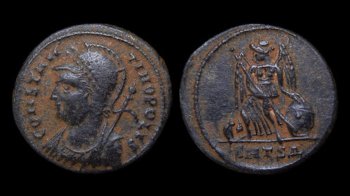 CONSTANTINOPOLIS, City Commemorative . AD 330-346 . AE3 . Thessalonica mint