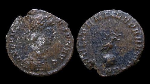 CONSTANTIUS II . AD 337-361 . AE3 . Phoenix on Globe