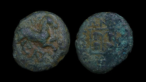 THRACE, Maroneia . 400-350 BC . AE15 . Wine grapes of Maroneia